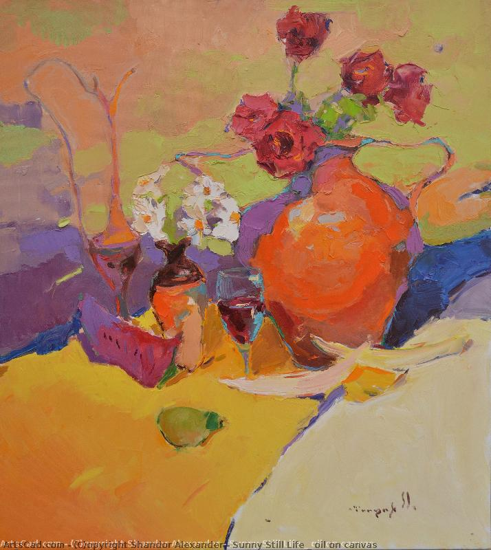 Artwork >> Shandor Alexander >> sunny still life _ oil on canvas
