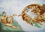 Loraine Yaffe - The Creation of Adam after Michelangelo