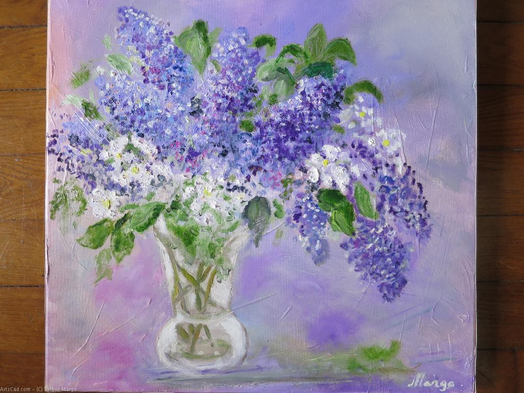 Artwork >> Salaun Margo >> out the Lilac  of the  garden