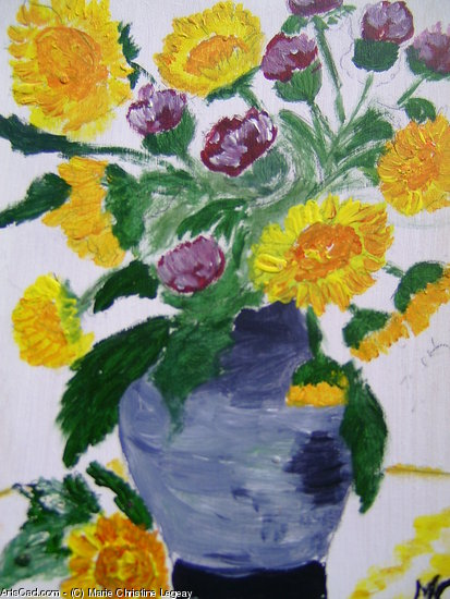 Artwork >> Marie Christine Legeay >> BOUQUET OF FLOWERS - BOUQUET OF FLOWERS