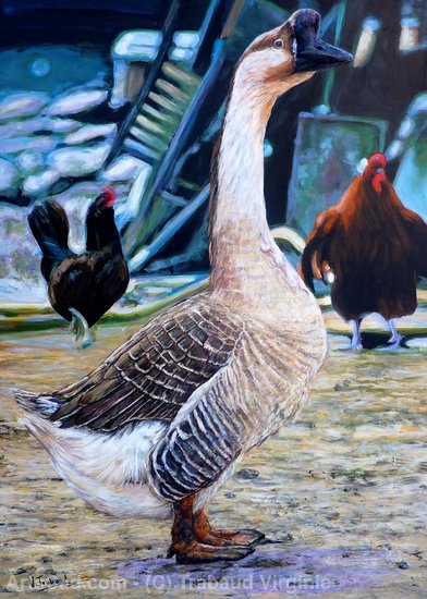 Artwork >> Trabaud Virginie >> the jar -   geese  from  Guinea