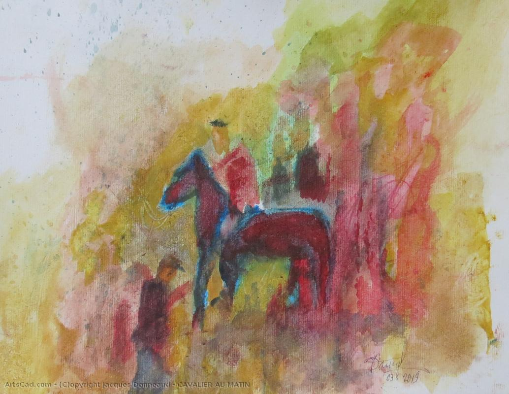 Art by Jacques Donneaud : Jacques Donneaud - Horseman at the  morning