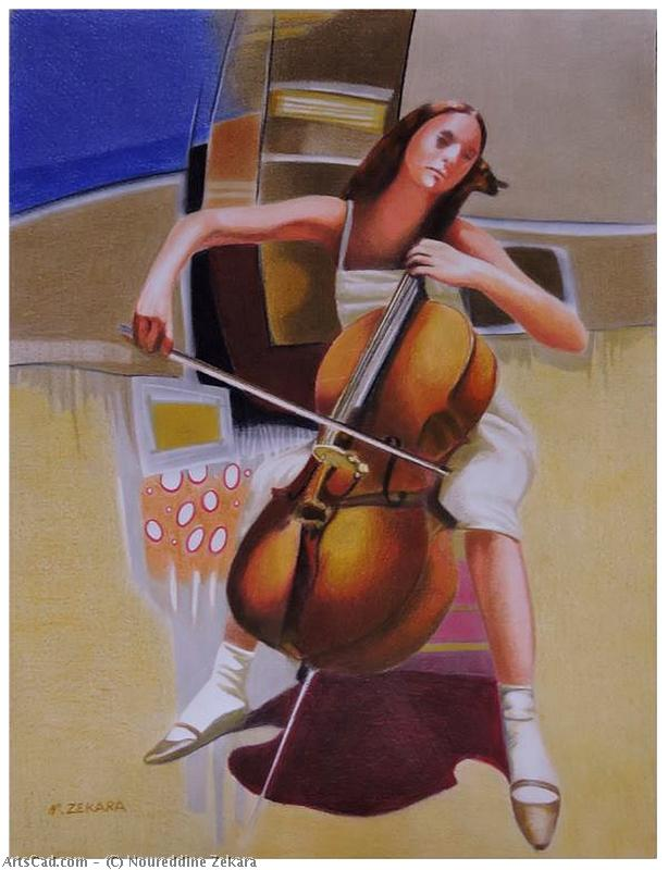 Artwork >> Noureddine Zekara >> The Violoncellist