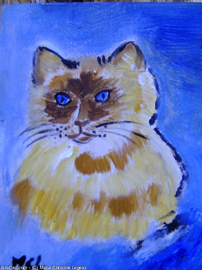 Artwork >> Marie Christine Legeay >> CAT THE CAT