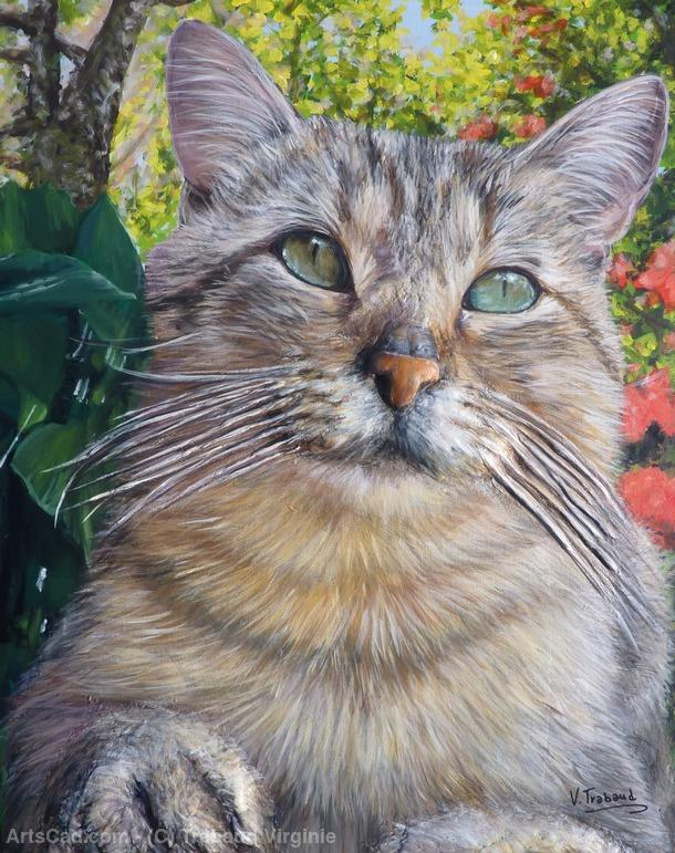 Artwork >> Trabaud Virginie >> CAT PORTRAIT