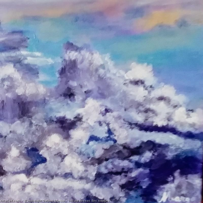 Artwork >> Salaun Margo >> flying at the  above  of  clouds