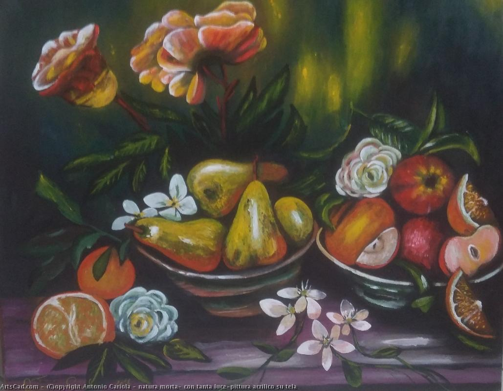 Art by Antonio Cariola : Antonio Cariola - still life , with so much luce-pittura acryl on canvas