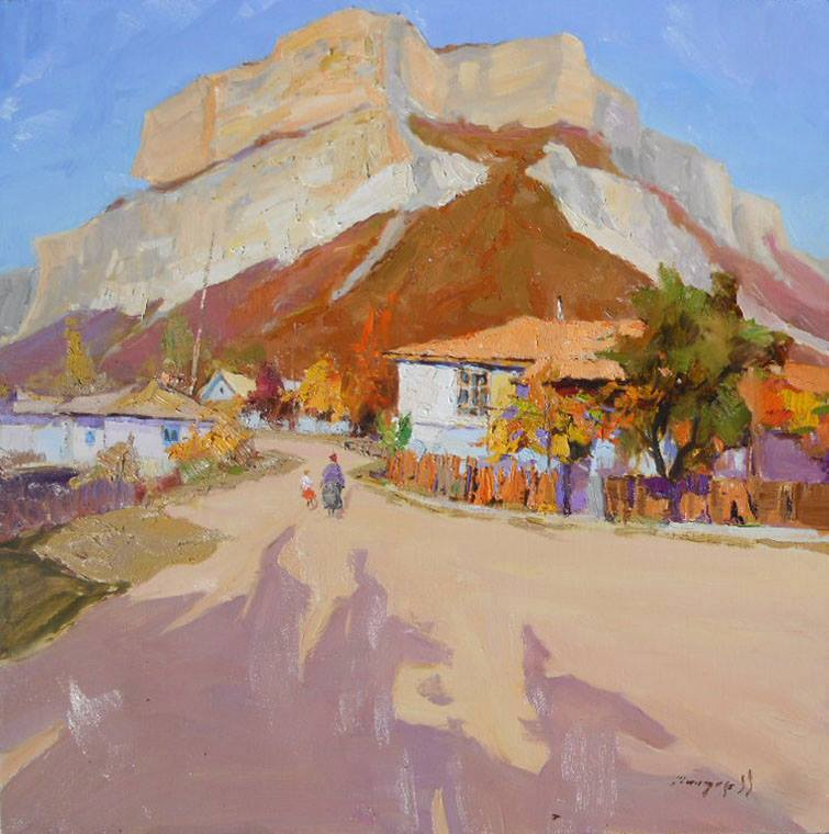 Artwork >> Shandor Alexander >> Autumn in mountain village