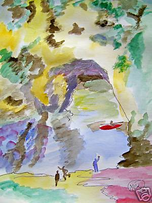 Artwork >> Marie Christine Legeay >> THE GORGES OF ARDECHE