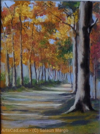 Artwork >> Salaun Margo >> Forest road