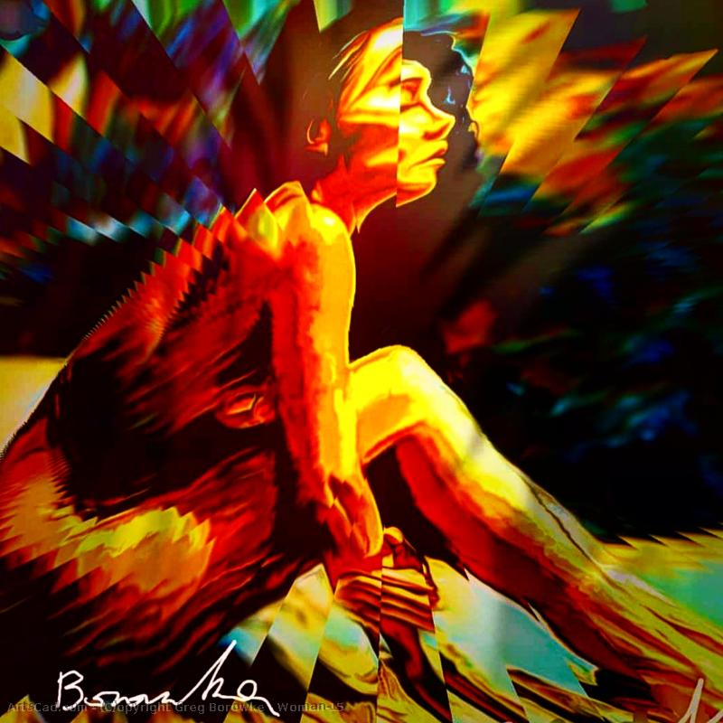 Artwork >> Greg Borowke >> Woman#15