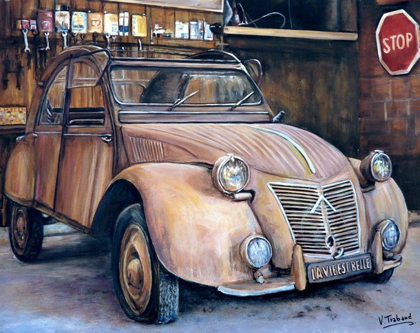 Artwork >> Trabaud Virginie >> 2cv - a treasure trove in my garage