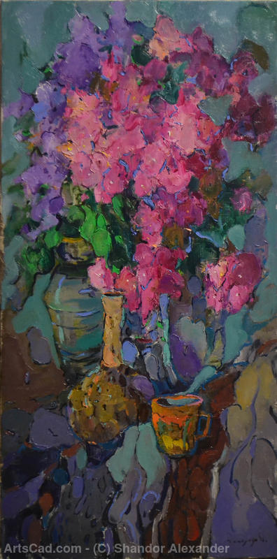 Artwork >> Shandor Alexander >> Still life with a mug / still life with mug of