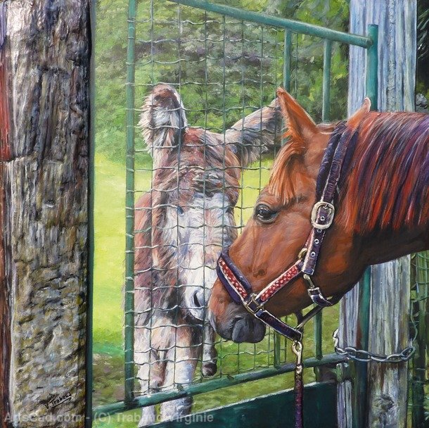 Artwork >> Trabaud Virginie >> l'Ane and horse