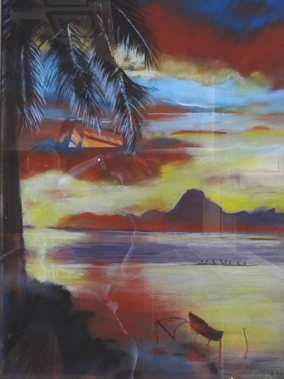 Artwork >> Salaun Margo >> SUNSET A Moorea