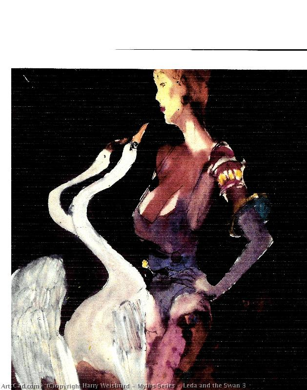 Art by Harry Weisburd : Harry Weisburd - Myths Series : Leda and the Swan 3