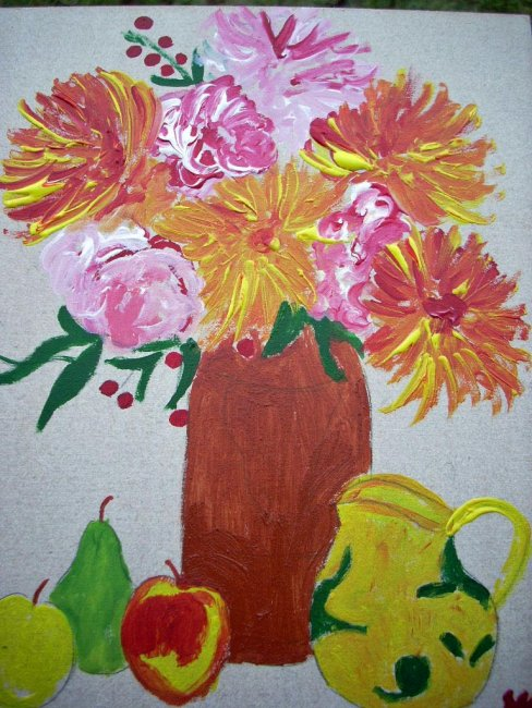 Artwork >> Marie Christine Legeay >> VASE OF FLOWERS - FLOWERS JUG