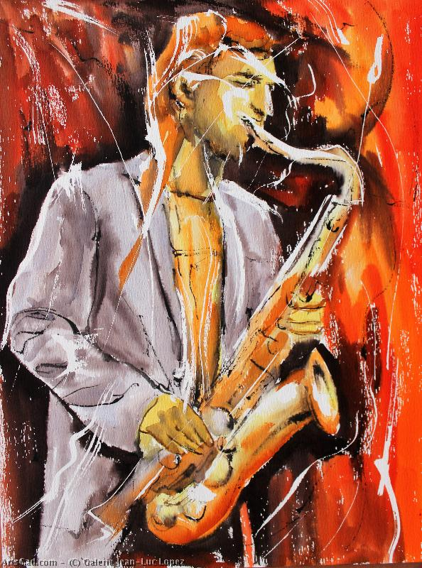 Art by Galerie Jean-Luc Lopez : Galerie Jean-Luc Lopez - night from  Sax