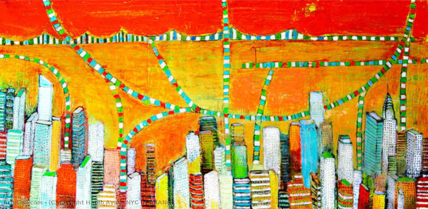 Art by Habib Ayat : Habib Ayat - NYC IN ORANGE