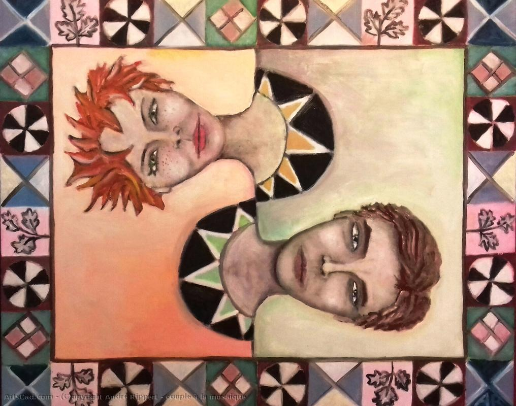 Art by André Rippert : André Rippert - Twosome at  there  mosaic