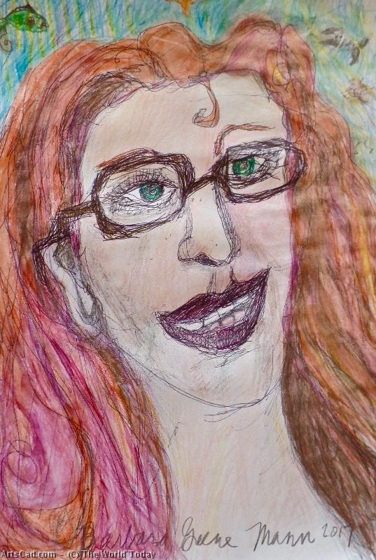 Art by The World Today : The World Today - red Hair Flaming, A Self Portrait