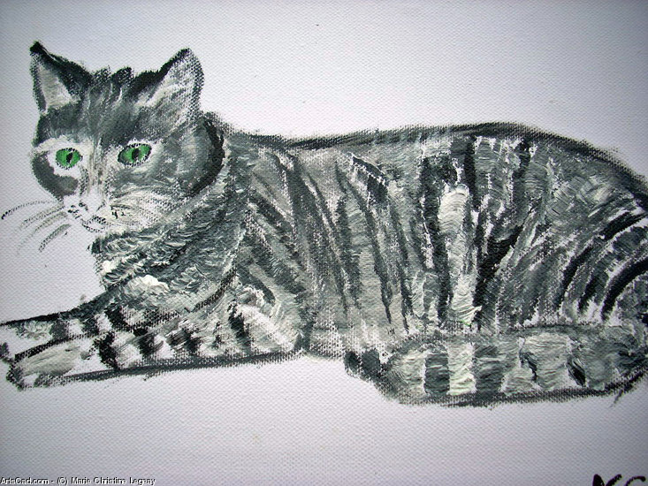 Artwork >> Marie Christine Legeay >> the cat the cat