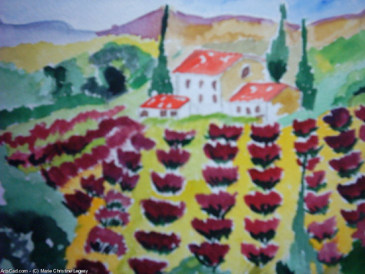 Artwork >> Marie Christine Legeay >> PROVENCE - PROVENCE LANDSCAPE