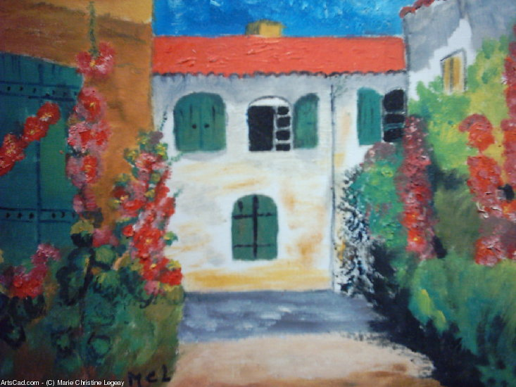 Artwork >> Marie Christine Legeay >> CHARENTAISES HOUSES - HOUSES FROM CHARENTES