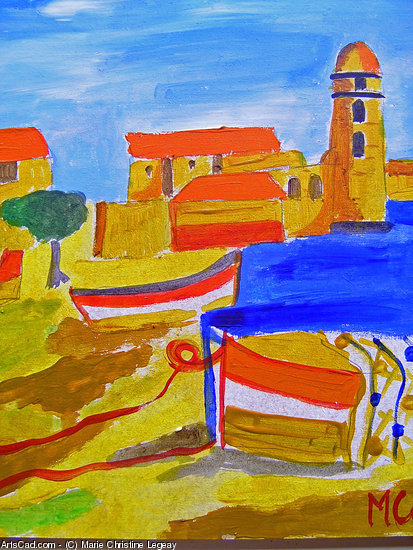 Artwork >> Marie Christine Legeay >> Collioure HARBOUR