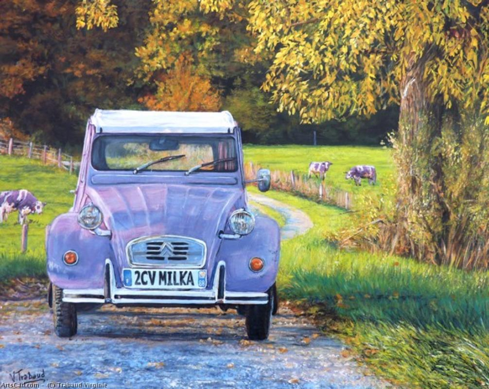 Artwork >> Trabaud Virginie >> 2cv milka