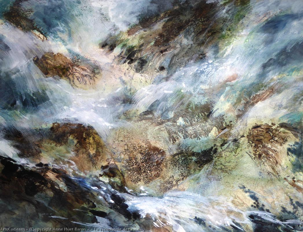 Art by Anne Huet Baron : Anne Huet Baron - there Symphony  of  waters