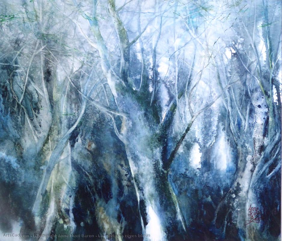 Art by Anne Huet Baron : Anne Huet Baron - The Forest of  Dreams  Blues