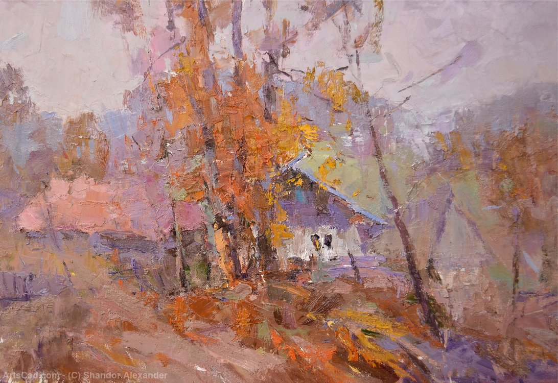 Artwork >> Shandor Alexander >> Autumn in the village.