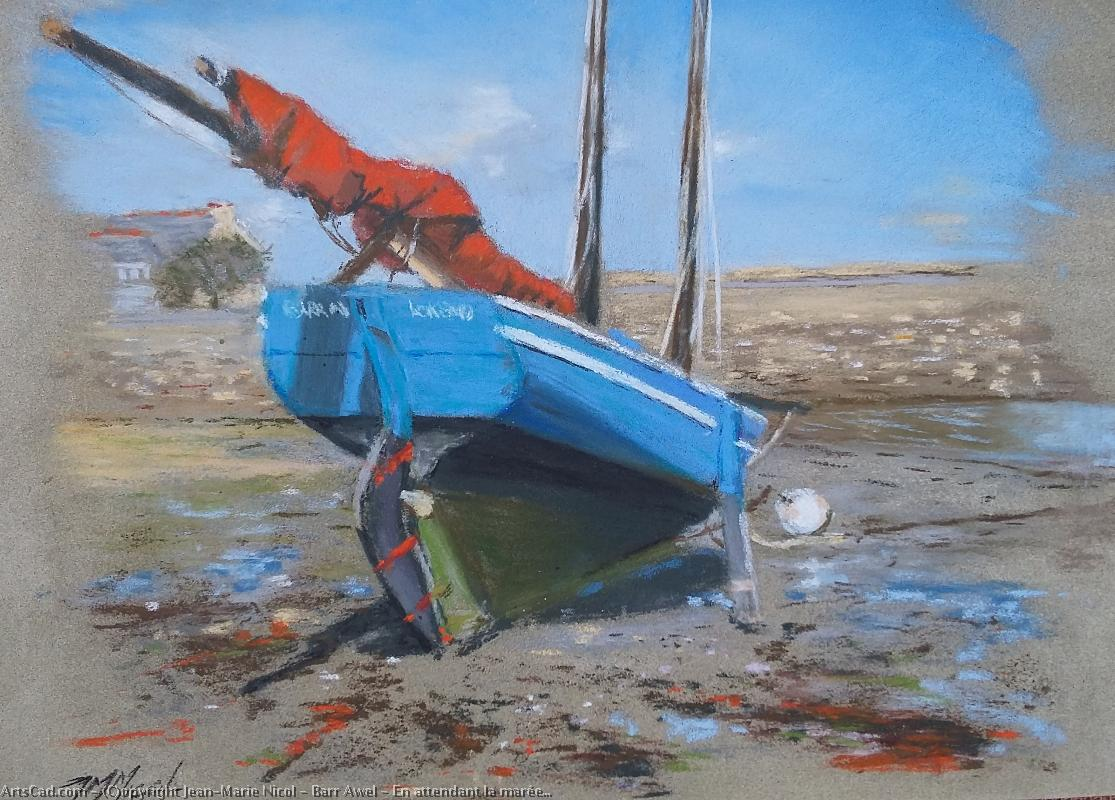 Art by Jean-Marie Nicol : Jean-Marie Nicol - barr awel : While waiting the tide . . .