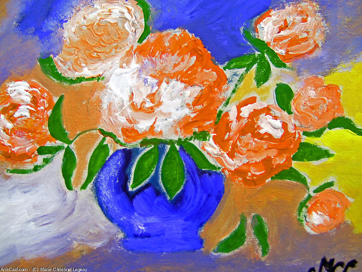 Artwork >> Marie Christine Legeay >> BOUQUET OF FLOWERS