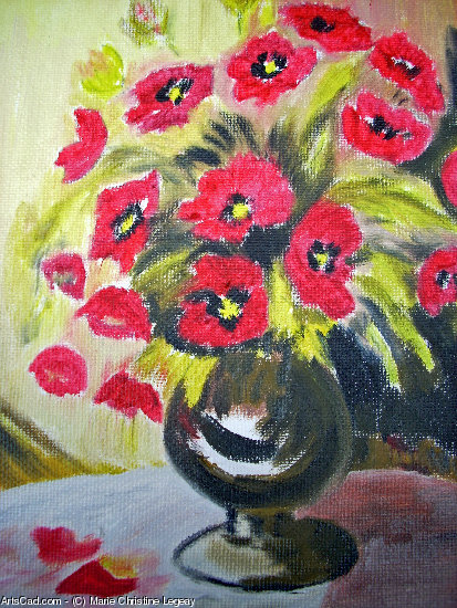 Artwork >> Marie Christine Legeay >> POPPIES BOUQUET
