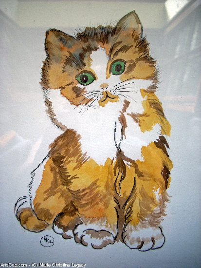 Artwork >> Marie Christine Legeay >> TEA CAT
