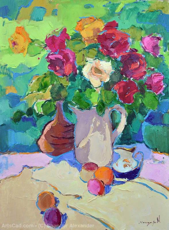 Artwork >> Shandor Alexander >> Roses in a Jug