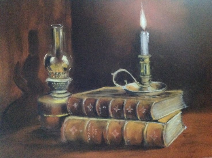 Artwork >> Salaun Margo >> Still life with candle