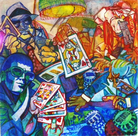 Artwork >> Atelier Galerie Marc Ferrero >> 'Poker Game'