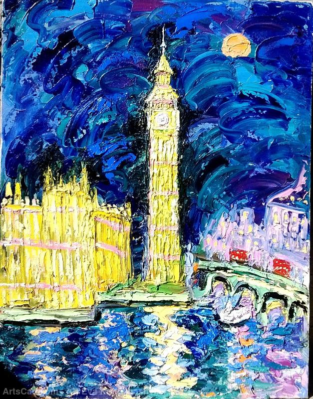 Artwork >> Eva Kudukhashvili >> ,,BIG BEN''