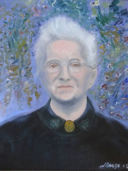 Artwork >> Salaun Margo >> PORTRAIT OF GRAND MOTHER