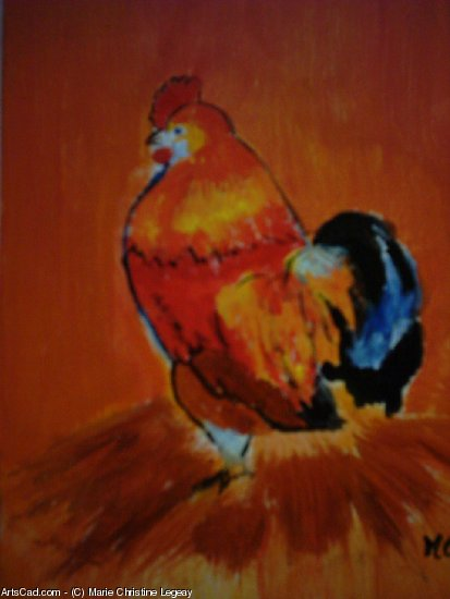 Artwork >> Marie Christine Legeay >> LE COQ the cock