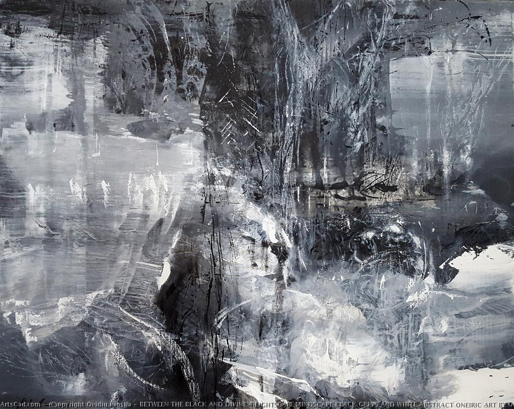 Art by Ovidiu Kloska : Ovidiu Kloska - BETWEEN THE BLACK AND DIVINE 4 LIGHTSCAPE MINDSCAPE BLACK GREYS AND WHITE ABSTRACT ONEIRIC ART BY O KLOSKA