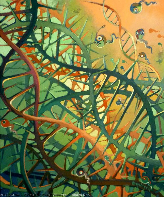 Art by Robert Verheyen : Robert Verheyen - colored DNA
