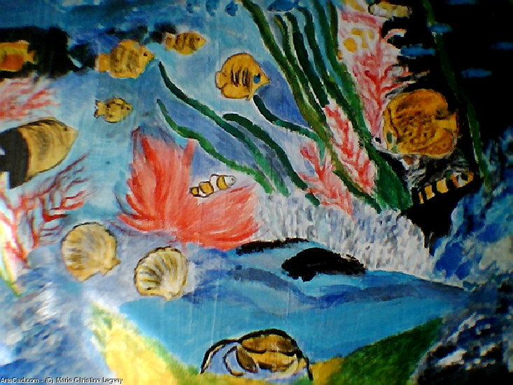 Artwork >> Marie Christine Legeay >> THE FISH / FISHES