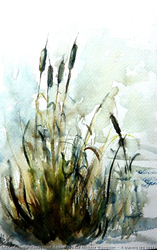 Art by Aquarelles De Michèle Wauquier : Aquarelles De Michèle Wauquier - across The  reeds