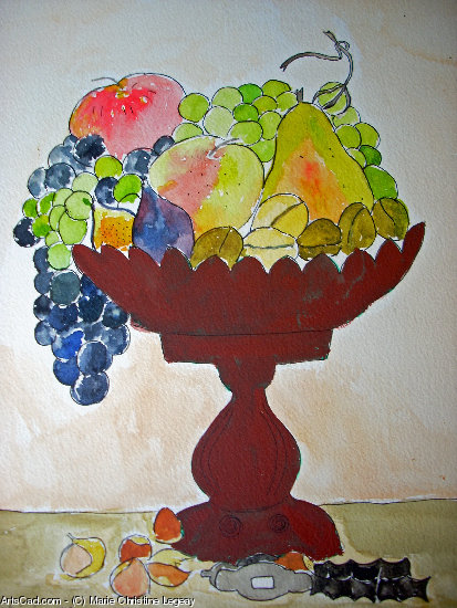Artwork >> Marie Christine Legeay >> goblet from  fruit